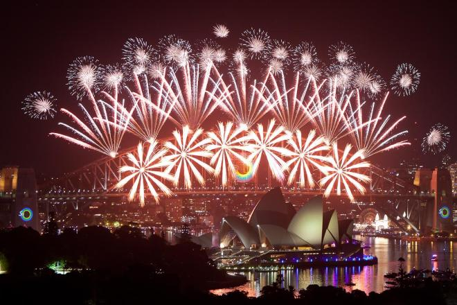 New Year's fireworks at Sydney Opera House